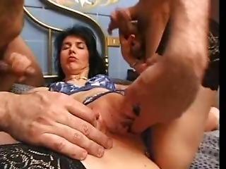 anal, behå, kräm, creampie, cumshot, avrunkning, italiensk, mogen, milf