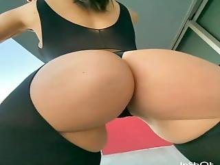 Incredible Jiggly Phat Ass In A Sexy Thong Outfit