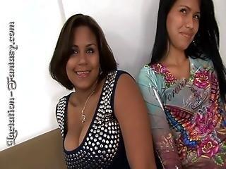 Perla gets her big tits sucked on hard