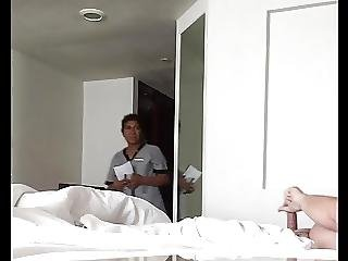 Hotel Maid Catches Me Stroking My Cock