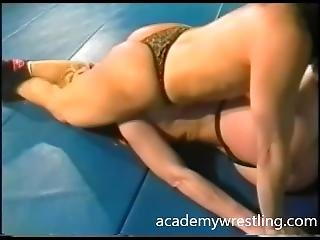 Kick Ass Facesitting In Academy Wrestling