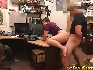 Nasty Teenage Slut Caught Stealing Has Sex With Store Manager
