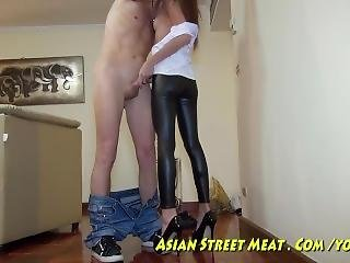 10€ Asian Hooker Fucks The Brains Out Of Your Balls!