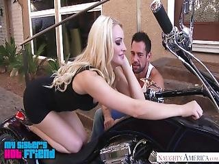 Tall Natural Blonde Staci Carr Gives A Motorcycle Blowjob   Naughty America