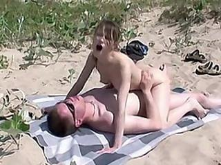 Sucking And Fucking My Hot Stepdad At The Beach