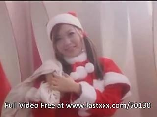 Christmas Japanese Girl In Costume Nailed