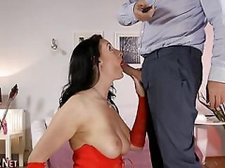 Stocking Whore Gets Cream