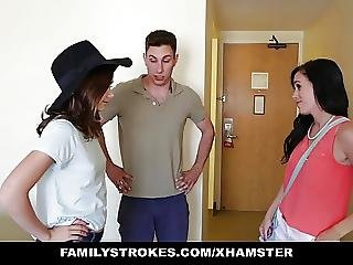 Familystrokes Hotel Room Fun With Step Sis