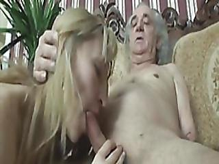 Horny Old Fart With Body Handicap Fucks Classy Young Blonde