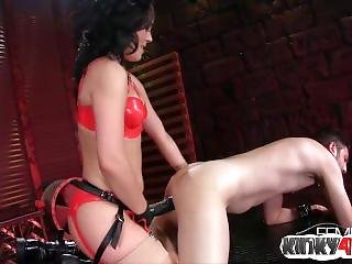 Hot Mistress Domination With Cumshot