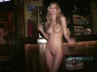 Perfect Natural Blonde Nude Outdoors In Public Nightclub Disco Nudity Sexy