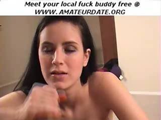 Brunette Amateur Slut Handjob Blowjob Bj Facial Cumshot Hardcore Homemade
