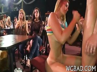 Raunchy Oral-job With Strippers