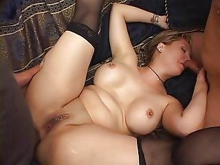 Fat Chick In DP Action
