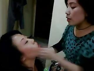 Chinese Lesbian Dom