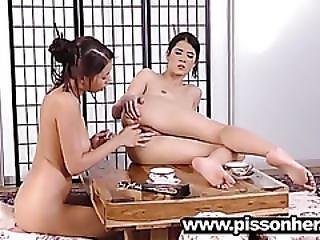 Paula Shy Gets A Lesbian Geisha Initiation