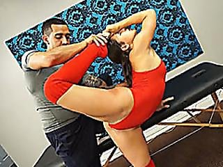 acrobatique, deepthroat, fléxible, sexe, rasée, Ados, yoga
