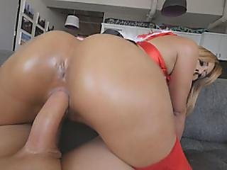 Round Ass Destroyed With Fat Cock