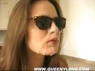Queeny Love - Facial With Sunglasses