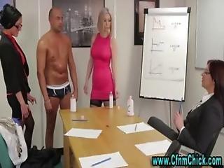 Euro femdoms cfnm cock play