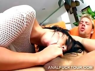 Double Penetration Breaks Hot Brunette Maria Bellucci S In Two