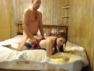 Sexy Webcam Girl Fucking Old Man 2