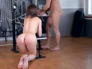 Tina Kay Chained And Fucked At The Gym