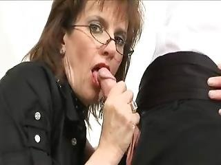 British Milf Sonia Let%27s Young Friend Cum On Nylons