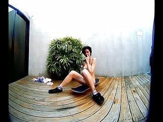 Vrpussyvision.com - Skater Girl With Big Boobs Masturbate On Her Skateboard