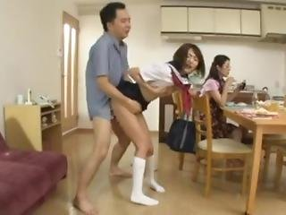 Japanese Daughter Cant Stop Cumming