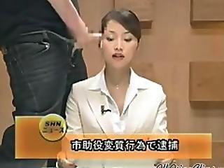 Beautiful Japanese Newscaster Gets Several Facisls Asian Cumshots Asian Swallow Japanese Chinese