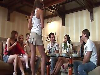 Sensuous Drunken Chicks Expose Their Tushes And Titties At A Party