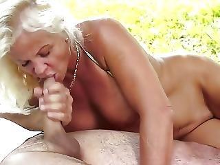 Horny Granny Get Fucked In The Garden