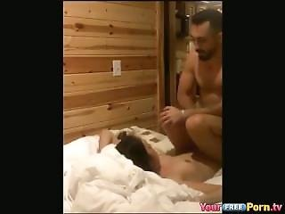 Dirty Talking Sextape In The Forest Cabin