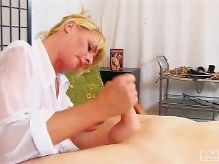 Blonde Mistress Fantasy Handjob