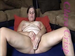 Chubby Brunette Fingering Using Vibrator And Dildo To Cum Hard