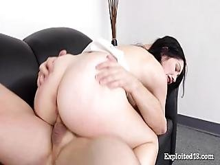 Real 18 Year Old Fucked On Casting Couch