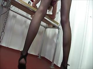 blond, samlefilm, fangehull, knulling, undertøy, maskin knulling, stuepike, sexy, transseksuell