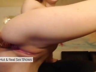 Young Teen Fucking Her Tight Pussy Too Hard. Hot Webcam Show