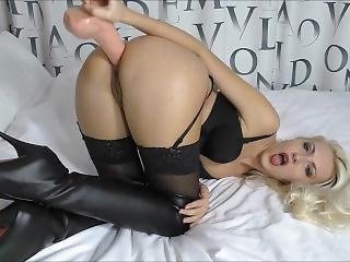 Huge Anal Gape Deep Dildo Fucking Leather Fetish (helena Moeller)