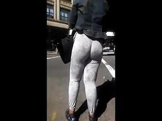 Jiggly Ebony Wedgie Booty In Leggings - More At Pornwebcamz.com