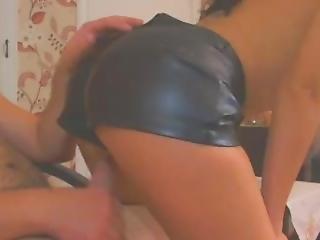 Leather Hot Pants Lap Dance