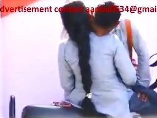 School Girl And Boy In Public