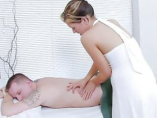 Masseuse Has Hot Sex With Clients