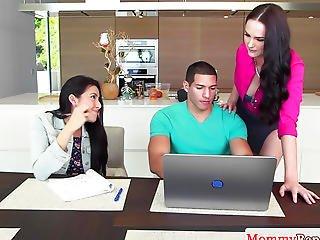 Cougar Bianca Breeze Sucks In Forbidden 3some