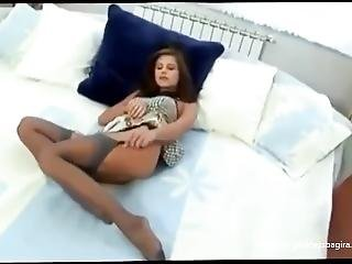 Cute Girl Wearing Stockings & Sexy Outfit