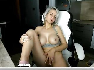 chick, dikke tiet, tsjechisch, masturbatie, Tiener, webcam