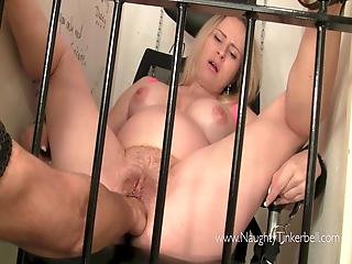 Preggo Naughty Tinkerbell Is Fisted And Fucked Behind Bars
