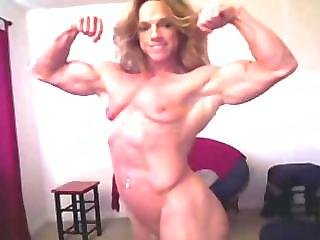 Nude woman breast feeding man