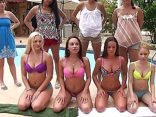 Four 18 Year Old All Natural Cuties Gets Punished By Sisters